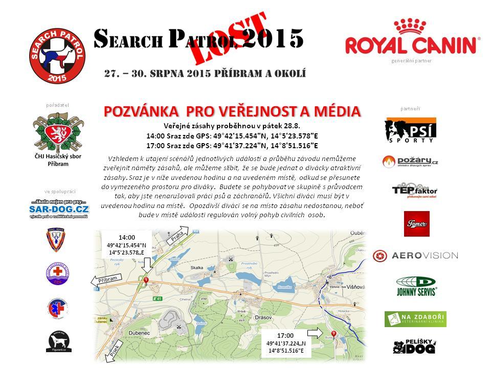 SEARCH PATROL 2015 - LOST Pozvánka
